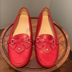 Red Tods Loafers Sz 39.5